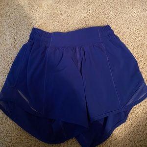 blue lulu lemon shorts